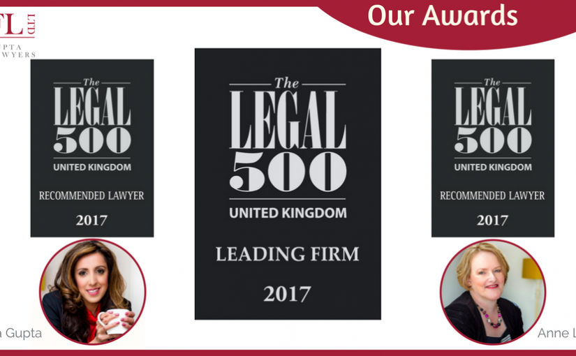 Legal 500 2017 for LGFL Ltd
