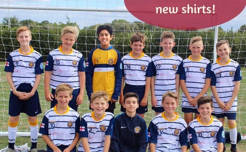 Reading FC Under 12s shirts