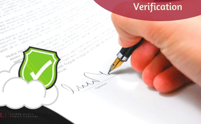 signing document for verification