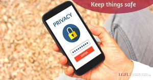 privacy padlock shown on phone screen for security during divorce