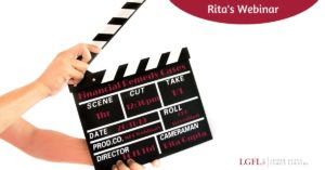 Clapperboard for Webinar with Rita Gupta