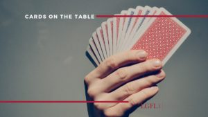 hand of cards - full disclosure during divorce