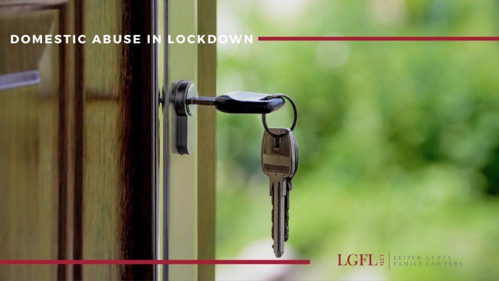 key in lock for domestic violence in lockdown