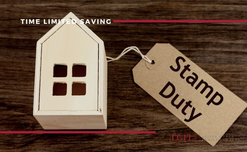 model house with stamp duty tag