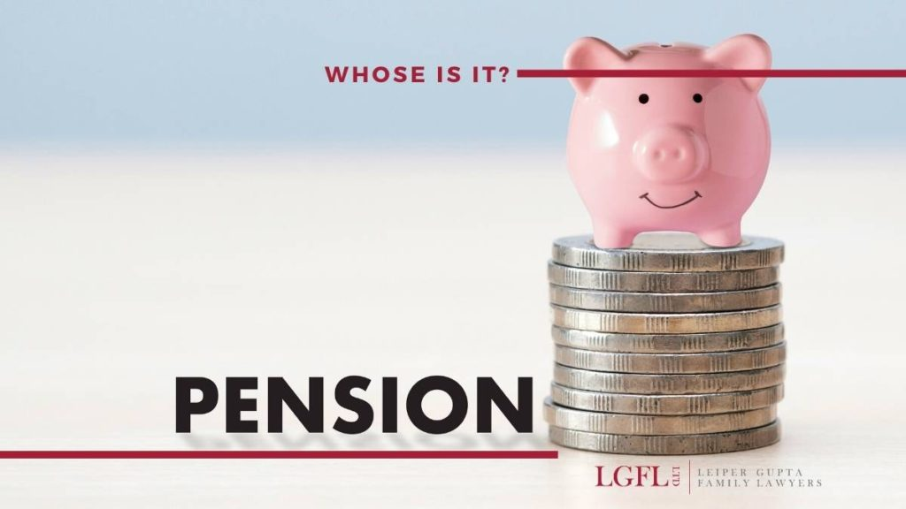 piggy bank and pension words