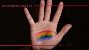 Hand with LGBT sign